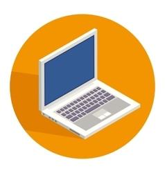 Notebook pc icon vector