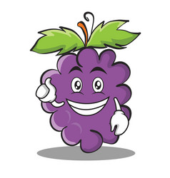 Optimistic grape character cartoon collection vector