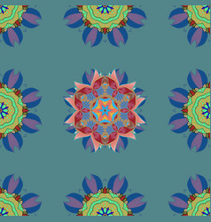 ornate eastern mandala with colored contour art vector image