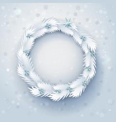 Paper christmas wreath vector