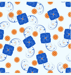 pattern 0094 flower pattern vector image