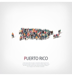 People map country Puerto Rico vector