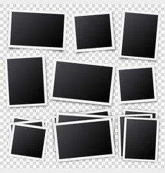photo card framefilm set retro vintage vector image