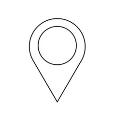 pin map location gps image outline vector image