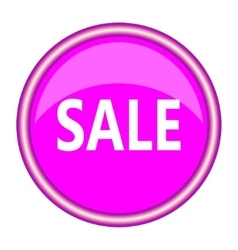 Pink sale icon flat design vector