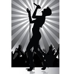 pop singer vector image