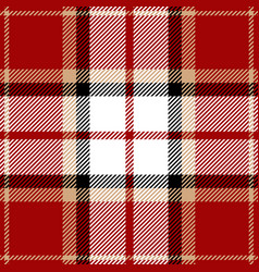 red and black tartan plaid seamless pattern vector image