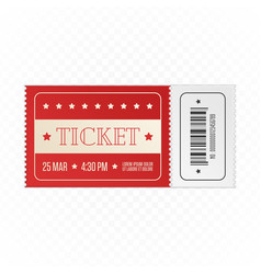 red cinema ticket vector image