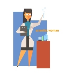 Scientist Woman Abstract Figure vector