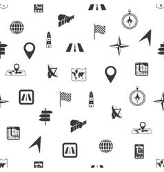 seamless navigation pattern vector image