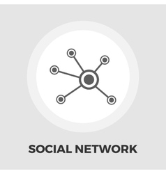 Social network icon flat vector image