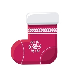 Sock for christmas stocking vector