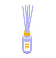 Spa sticks diffuser icon isometric style vector