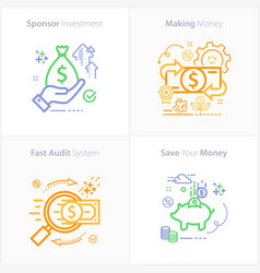 Sponsor investment concept icon making money vector