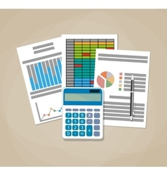 Spreadsheet concept Business background vector image
