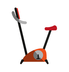 stationary bike icon image vector image