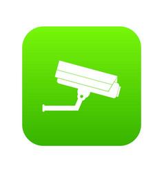 surveillance camera icon digital green vector image