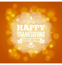 thanksgiving day card on lights background vector image