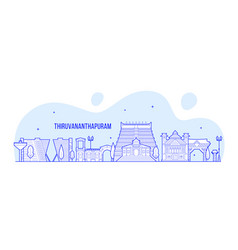 Thiruvananthapuram a skyline kerala india a vector