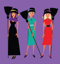 Three witches vector
