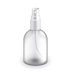 Transparent plastic spray bottle isolated vector