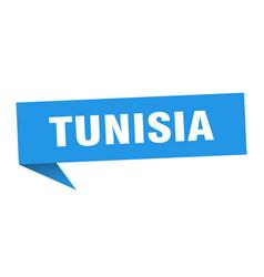 Tunisia sticker blue tunisia signpost pointer sign vector