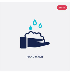 two color hand wash icon from cleaning concept vector image