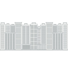 urban space cityscape outline style vector image