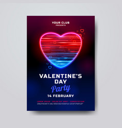 valentines day party poster mockup holiday banner vector image