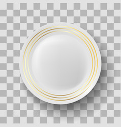 White ceramic plate vector