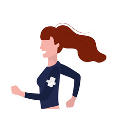 woman running portrait vector image