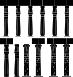 ancient egypt column silhouette of egyptian colu vector image vector image