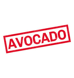 Avocado rubber stamp vector