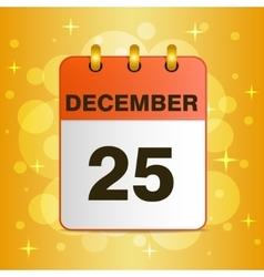 Christmas icon on a yellow vector image vector image