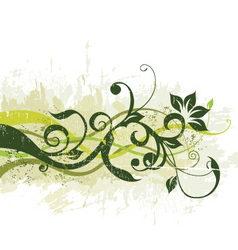 floral grunge graphic vector image