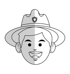 Forest ranger icon vector