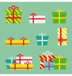 Gift Boxes Flat Presents vector image vector image