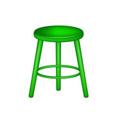 retro stool in green design vector image vector image