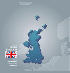 United kingdom information map vector