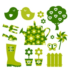 garden objects vector image vector image