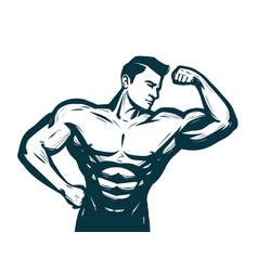 gym bodybuilding sport concept male athletic vector image