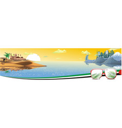 panorama - the arabian resort on the coast vector image vector image