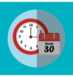 Schedule time graphic vector image