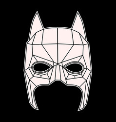 batman mask black and white symbol triangles vector image