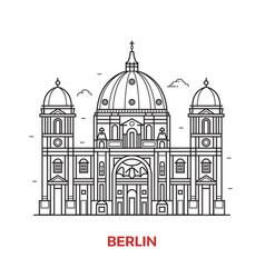berlin landmark icon vector image