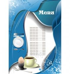 cafe restaurant menu vector image