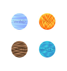 four elements isolated into vector image