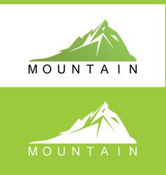 green mountain logo vector image