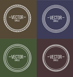 Linear frames with text set Outline design for vector image vector image