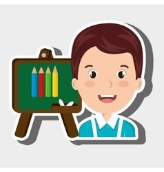 student school board graphic vector image